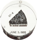 Explorers:Space Exploration, Gemini 4 Flown Heat Shield Plug in Lucite Display. ...
