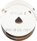 Explorers:Space Exploration, Apollo 10 Flown Heat Shield Plug in Lucite Display....