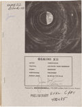 Explorers:Space Exploration, Gemini 12 McDonnell Preliminary Air/ Ground Voice Transcript BookDirectly from the Personal Collection of Mission Commander J...