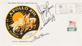 """Explorers:Space Exploration, Apollo 13 Crew-Signed """"Type One"""" Insurance Cover Directly from thePersonal Collection of Mission Commander James Lovell, Sign..."""