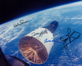 Autographs:Celebrities, Gemini 6A & Gemini 7 Crews-Signed Color Rendezvous Photo. ...