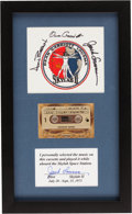 Explorers:Space Exploration, Skylab II (SL-3) Flown Music Cassette Tape in Framed Display withCrew-Signed Beta Cloth Patch Directly from the Personal Coll...