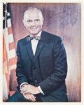 Autographs:Celebrities, John Glenn Signed Color Photo, with PSA/DNA LOA....