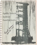 Explorers:Space Exploration, Michael Collins Signed Apollo / Saturn V SystemsFamiliarization Book. ...