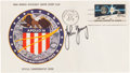Explorers:Space Exploration, Apollo 16 Official Launch Cover Directly from the PersonalCollection of Mission Commander John Young, Signed (Twice) andCert...
