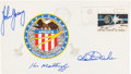 Explorers:Space Exploration, Apollo 16 Crew-Signed Insurance Cover Directly from the PersonalCollection of Mission Commander John Young, Signed and Certif...