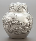 Silver Holloware, American:Other , AN S. KIRK & SON CO. SILVER REPOUSSÉ GINGER JAR. S. Kirk &Son Co., Baltimore, Maryland, circa 1910. Marks: S. KIRK &SON ...
