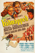 """Movie Posters:Adventure, Kidnapped (20th Century Fox, 1938). One Sheet (27"""" X 41"""") Style B....."""