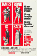 "Movie Posters:James Bond, From Russia with Love (United Artists, 1964). Flat Folded One Sheet(27"" X 41"") Style B.. ..."