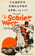 "Movie Posters:Western, The Scarlet West (First National, 1925). Window Card (14"" X 22"")....."