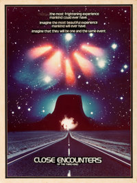 """Close Encounters of the Third Kind (Columbia, 1977). Mock-Up One Sheet (27"""" X 37"""")"""