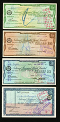 Miscellaneous:Other, Traveller Cheques.. Great Britain District Bank Limited £2; £5; £101956-58. Great Britain National Provincial Bank Limi... (Total: 7items)