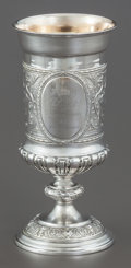 Silver Holloware, Continental:Holloware, A GERMAN SILVER AND SILVER GILT GOBLET . Circa 1881. Marks: 800,DS. 7-3/4 inches high (19.7 cm). 7.1 ounces. Provenan...