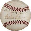 Autographs:Baseballs, 1938 Brooklyn Dodgers Team Signed Baseball....