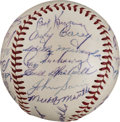 Autographs:Baseballs, 1953 New York Yankees Team Signed Baseball....