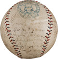 Autographs:Baseballs, 1927 New York Yankees Team Signed Baseball....