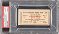 "Baseball Collectibles:Tickets, 1910 New Orleans Pelicans Full Ticket (""Shoeless Joe"" Jackson'sTeam)...."