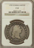 Early Dollars: , 1795 $1 Flowing Hair, Three Leaves Fine 12 NGC. NGC Census:(81/935). PCGS Population (118/1160). Mintage: 160,295. Numisme...