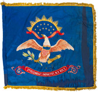 Glorious Pair of Spanish American War Presentation Flags