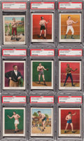 Boxing Cards:General, 1910 T220 Mecca Boxing Champions Near Set (49/50). ...