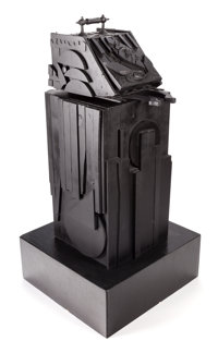 LOUISE NEVELSON (American, 1899-1988) Sky Shovel, 1977 Black painted wood 43 x 18 x 22 inches (10