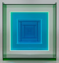 Post-War & Contemporary:Contemporary, LEROY LAMIS (American, 1925-2010). Construction No. 39,1964. Green-white-blue-clear Plexiglas. 12 x 11-1/8 x 7-3/8 inch...