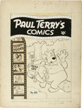 Original Comic Art:Covers, Paul Terry's Comics #89 Cover Original Art (St. John, 1951)....(Total: 2 Items)