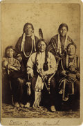 Photography:Cabinet Photos, SITTING BULL (TATONKA YOTANKA) CABINET CARD. 1870-1880 Sioux chief, 1837-1890. He was chief of the Dakota Sioux, who were d... (Total: 1 Item)