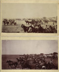 """Photography:Official Photos, TWO OKLAHOMA LAND RUSH IMAGES: """"THE START"""" BY A.A. FORBES.The Oklahoma land rush of 1889 was as much a celebrat... (Total: 1Item)"""