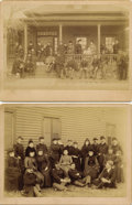 Photography:Official Photos, OFFICERS AND THEIR WIVES - FORT YATES, DAKOTA TERRITORY. Two impressive group photographs depicting 12-15 officers, their wi... (Total: 1 Item)