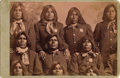 Photography:Cabinet Photos, BUEHMAN & HARTWELL CABINET OF PIMA INDIAN POLICE ca 1881.Created from a larger negative, this cropped image depicts tenPim... (Total: 1 Item)