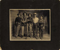 Photography:Cabinet Photos, IMPERIAL SIZE CABINET CARD WITH FIVE COWBOYS. 1900-1910 Very large format photograph of five cowboys. All have holstered pis... (Total: 1 Item)