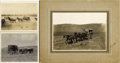 Photography:Cabinet Photos, STAGECOACH IMAGE CHINOOK, MONTANA LOT OF THREE 1890-1910. . (1) Great imperial-size cabinet card of a mud wagon (stagecoach... (Total: 1 Item)