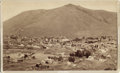 "Photography:Cabinet Photos, IMPERIAL SIZE CABINET CARD ""VIRGINIA CITY, NEVADA"" 1888. Beautifulbird's-eye view of Virginia City, Nevada. The view shows... (Total:1 Item)"