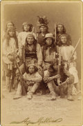 Photography:Cabinet Photos, MUST-HAVE CABINET OF APACHE CHIEF ALCHESAY AND HIS COUNCIL. This isan exceptional cabinet card of White Mountain Apache Chi...