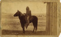 Photography:Cabinet Photos, RARE 1893 BOUDOIR CABINET OF APACHE JIM ON HORSEBACK. Photographedby A. Miller at Fort Grant, Arizona Territory, Apache Jim...(Total: 1 Item)