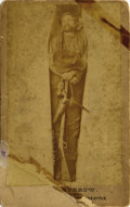 "Photography:Cabinet Photos, CABINET CARD OF TRAIN ROBBER RUBEN HOUSTON ""RUBE"" BURROW IN COFFIN.His career as a robber began in the mid 1880s when he he... (Total:1 Item)"