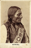Photography:Cabinet Photos, SITTING BULL MONTREAL, CANADA CABINET CARD ca 1880s: Great studioposed cabinet card of Sitting Bull. Hunkpapa Sioux Lea...(Total: 1 Item)