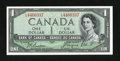 Canadian Currency: , BC-29b $1 Devil's Face Portrait.. ...