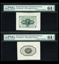 Fractional Currency:First Issue, Fr. 1243SP 10¢ First Issue Wide Margin Pair PMG Choice Uncirculated 64 EPQ....