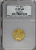 Early Quarter Eagles, 1802/1 $2 1/2 --Damaged--AU50 NCS. AU Details . NGC Census: (5/67).PCGS Population (7/39). Mintage: 3,035. Numismedia Wsl. ...