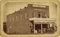 Photography:Cabinet Photos, Imperial Size Cabinet Card Photograph Merced Express Newspaper Building ca 1880s-1890s - ...
