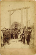 Photography:Official Photos, 1887 HANGED MAN CABINET PHOTOGRAPH BY R.M. DAVIS. Although we do not know the identity of the hanged man in this image, we d... (Total: 1 Item)