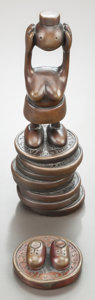 Post-War & Contemporary:Contemporary, TOM OTTERNESS (American, b. 1952). Two Untitled Sculptures(Penny with Shoes; Woman Without Head on Stack of Pennies).B... (Total: 2 Items)
