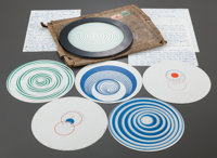 MARCEL DUCHAMP (French, 1887-1968) Rotoreliefs (6 double-sided works), 1935 (printed 1953) Offset li