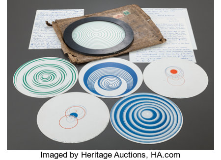 MARCEL DUCHAMP (French, 1887-1968) Rotoreliefs (6 double-sided works), 1935 (printed 1953) Offset lithographs in color...