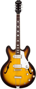 Musical Instruments:Electric Guitars, 2006 Epiphone '64 Casino Elitist Re-issue Sunburst Solid BodyElectric Guitar, Serial # T604983. ...