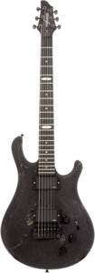 Musical Instruments:Electric Guitars, 2009 Flaxwood Aija Flat Black Solid Body Electric Guitar, Serial # 0609789....