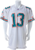 Football Collectibles:Uniforms, 1993 Dan Marino Game Worn, Signed Miami Dolphins Jersey. ...