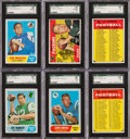 Football Cards:Sets, 1968 Topps Football Complete Set (219). ...